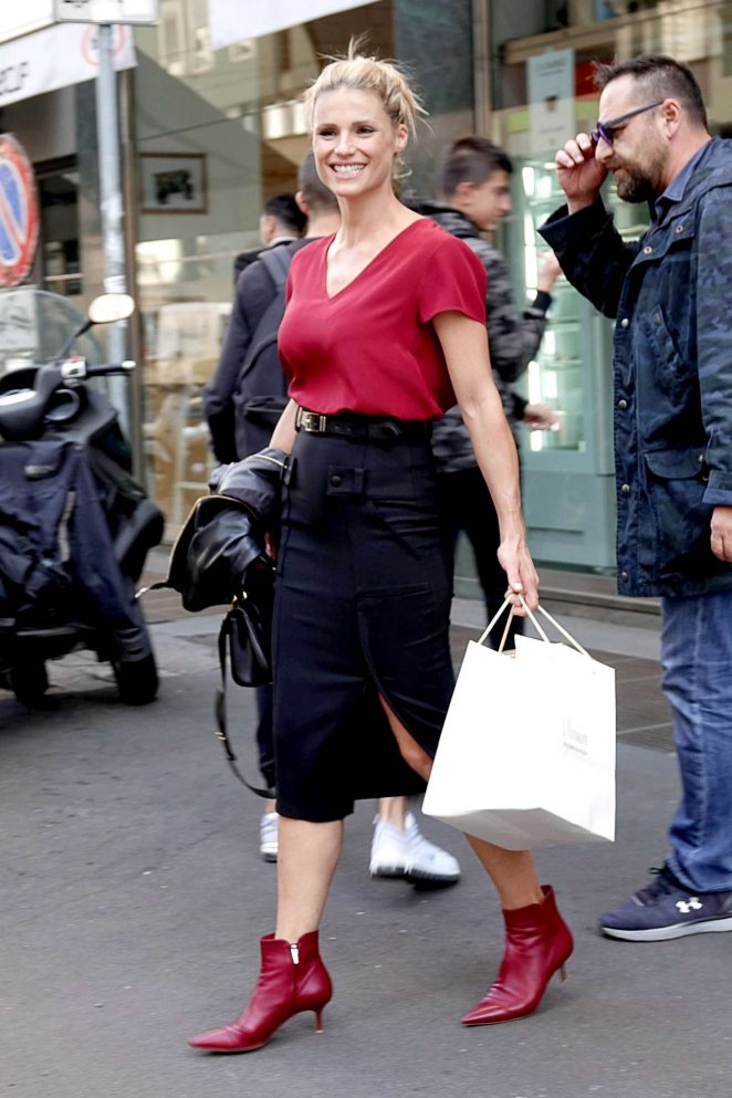 Michelle Hunziker - Out and about in Milan