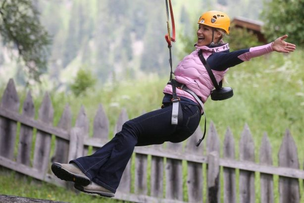 Michelle Hunziker - Pictured at Adventure Park in Colfoco