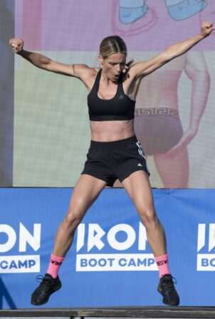 Michelle Hunziker - Pictured at Iron Bootcamp at the Adriatic Golf Camp in Cervia