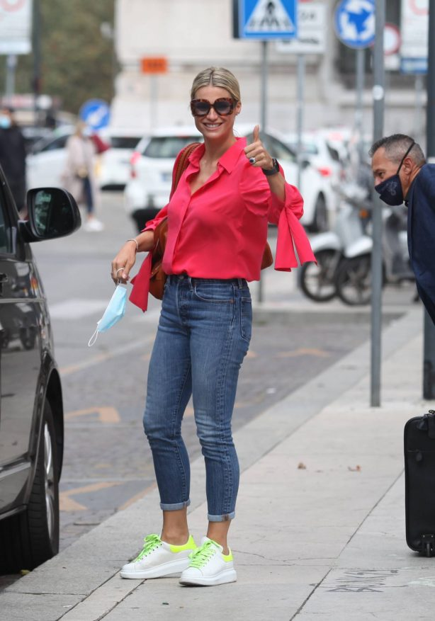 Michelle Hunziker - Pictured in Milan
