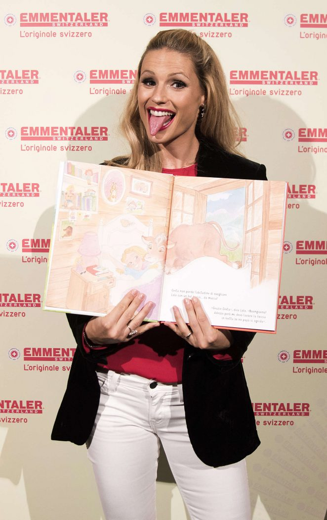 Michelle Hunziker - Presents the book for children ''Lole nella Valle dell'Emme' in Milan