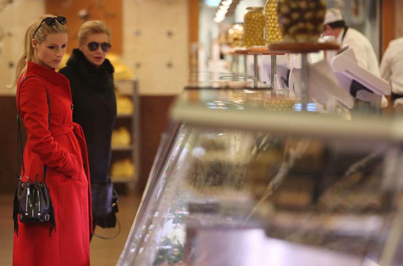 Michelle Hunziker 2015 : Michelle Hunziker in Red Coat -12