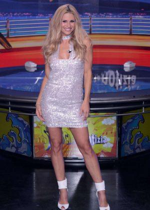 Michelle Hunziker - 'Striscia La Notizia' TV Show in Milan