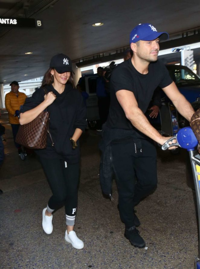 Michelle Keegan and Mark Wright at LAX Airport in LA