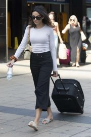 Michelle Keegan - Arriving in London