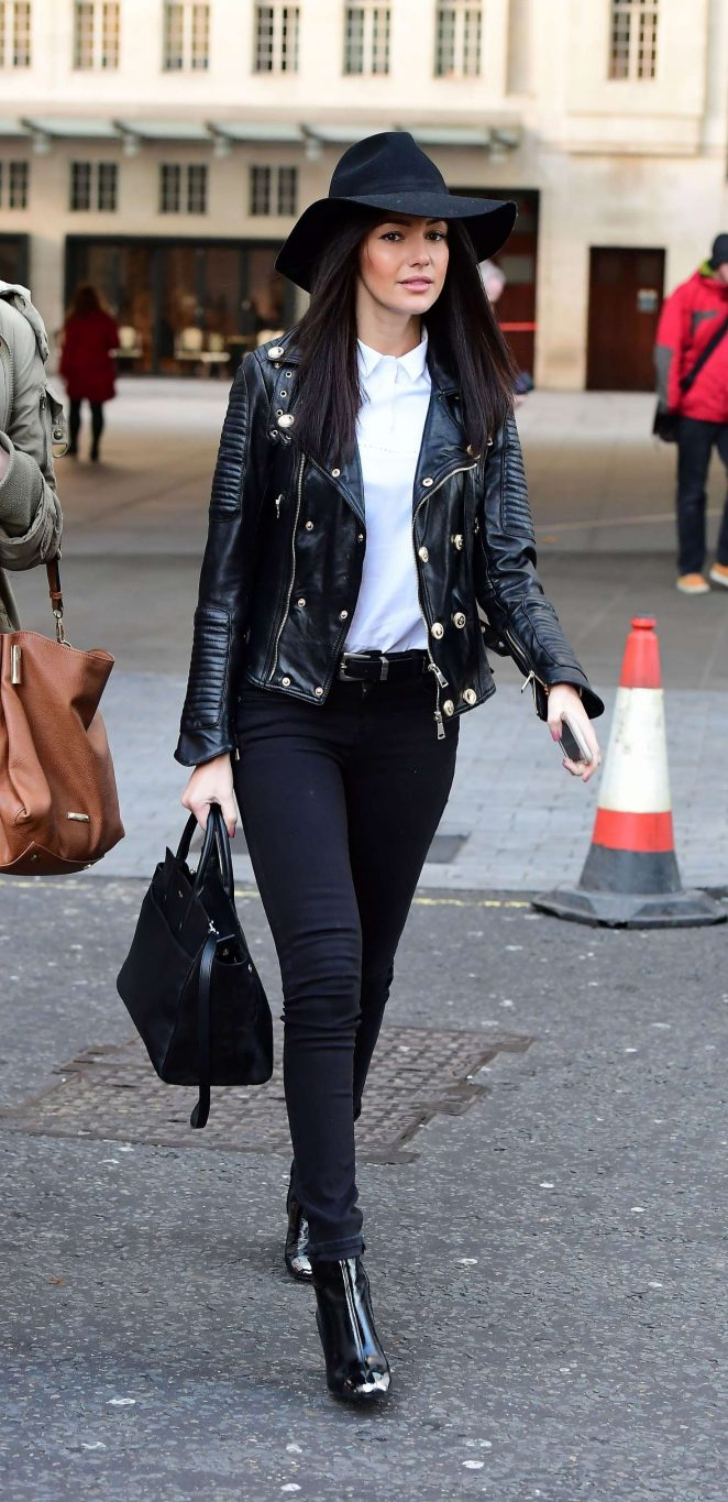 Michelle Keegan at BBC Radio 1 Studios in London