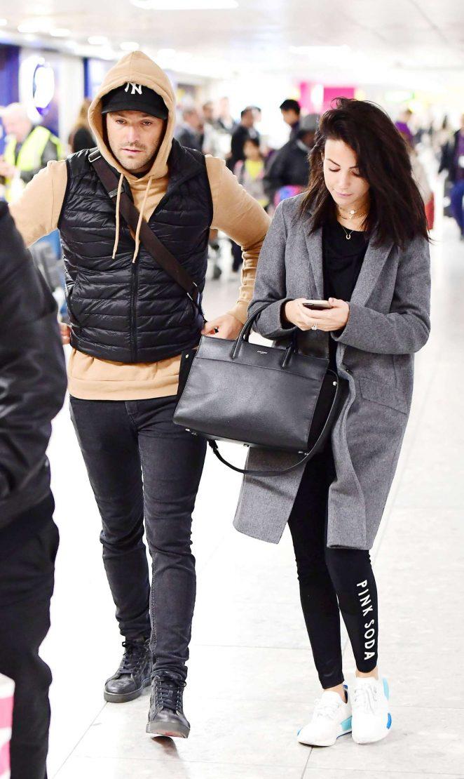 1c7fa52f62747 Michelle Keegan at Heathrow Airport in London | GotCeleb