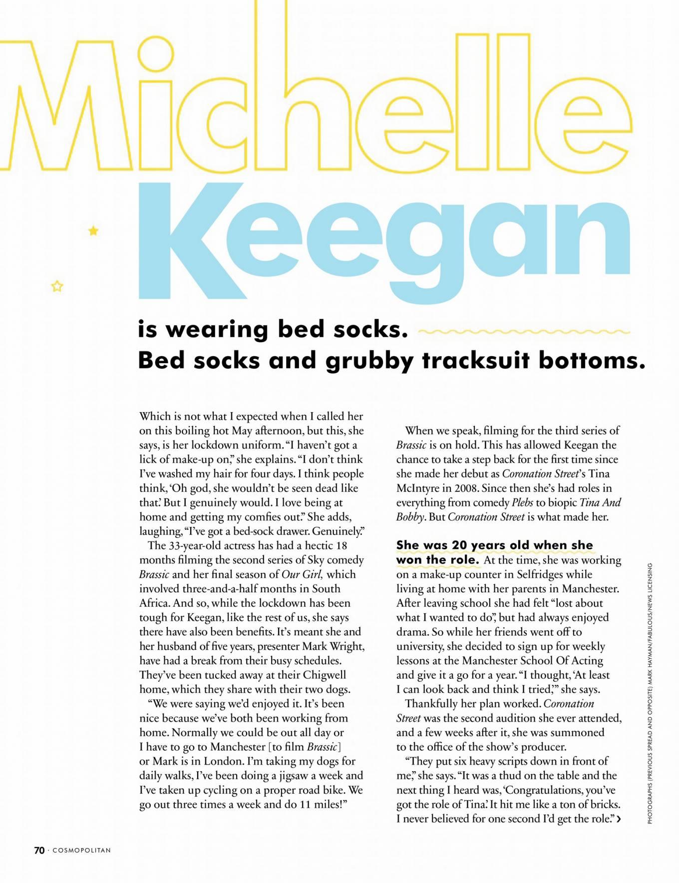 Michelle Keegan 2020 : Michelle Keegan – Cosmopolitan Uk Magazine 2020-07