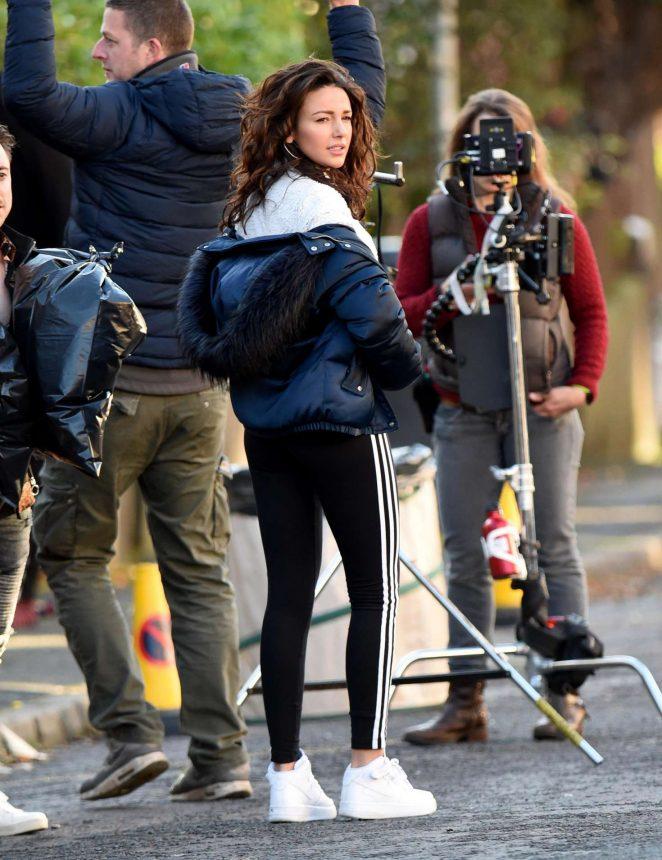 Michelle Keegan - Filming 'Brassic' TV Show in Lancashire