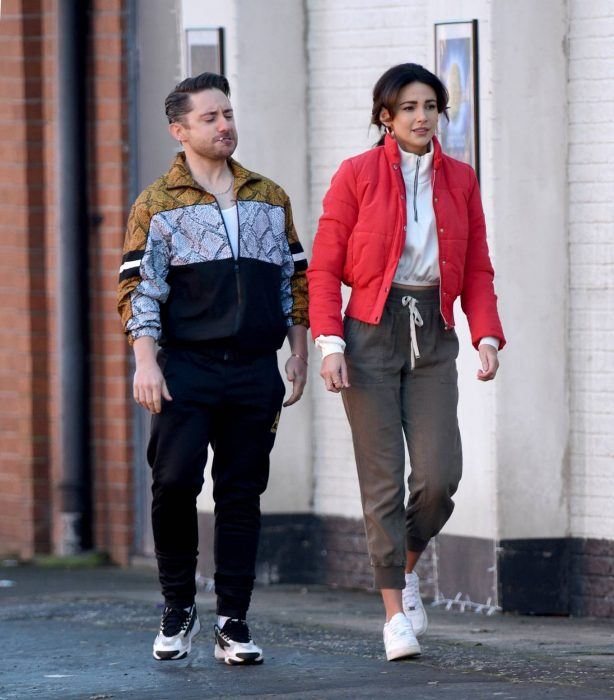 Michelle Keegan - Filming Brassic TV Show in Manchester
