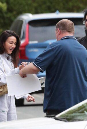 Michelle Keegan - Hale Village's MS taking autographs