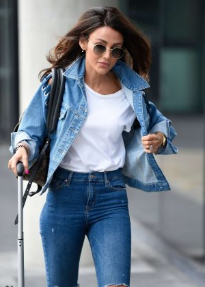 Michelle Keegan in Jeans - Arrives at the BBC studios in Media City Salford