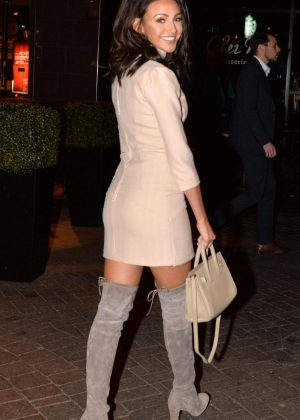 Michelle Keegan in Short Dress Night Out in Manchester