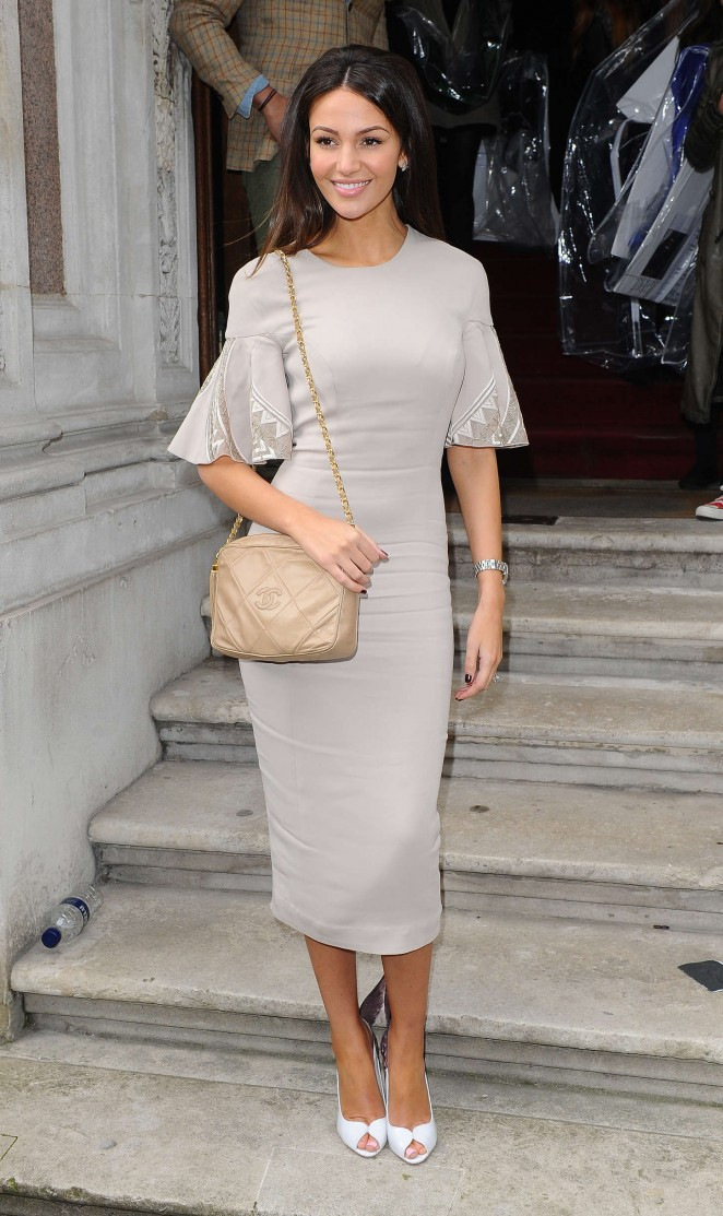 Michelle Keegan - Julien Macdonald Fashion Show 2015 in London