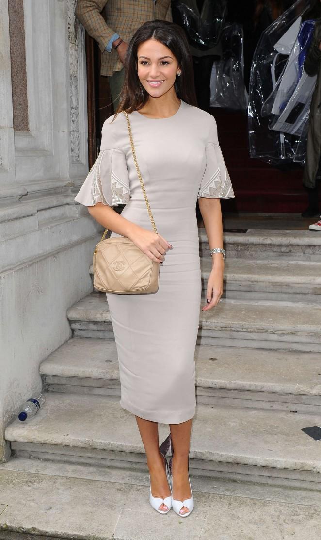 Michelle Keegan - Julien Macdonald Fashion Show 2015 in London