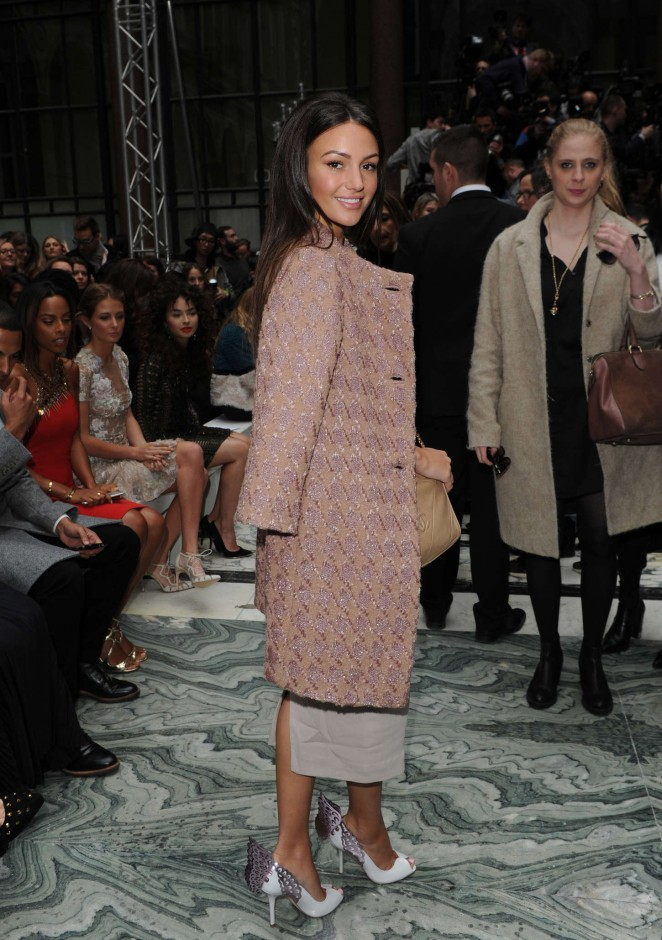 Michelle Keegan: Julien Macdonald Fashion Show 2015 -10