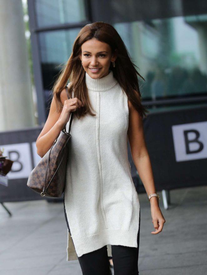Michelle Keegan Leaves BBC Breakfast studio -13
