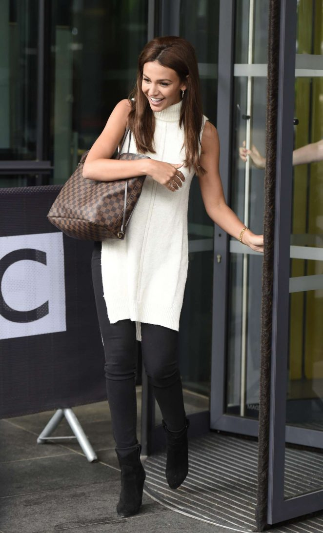 Michelle Keegan Leaves BBC Breakfast studio -16