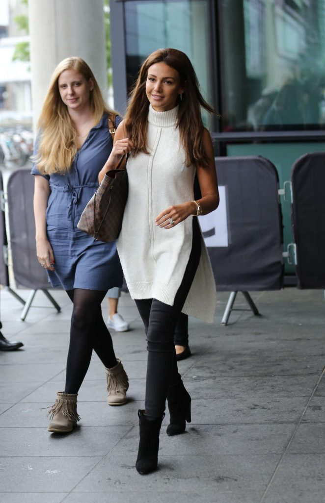 Michelle Keegan Leaves BBC Breakfast studio -18