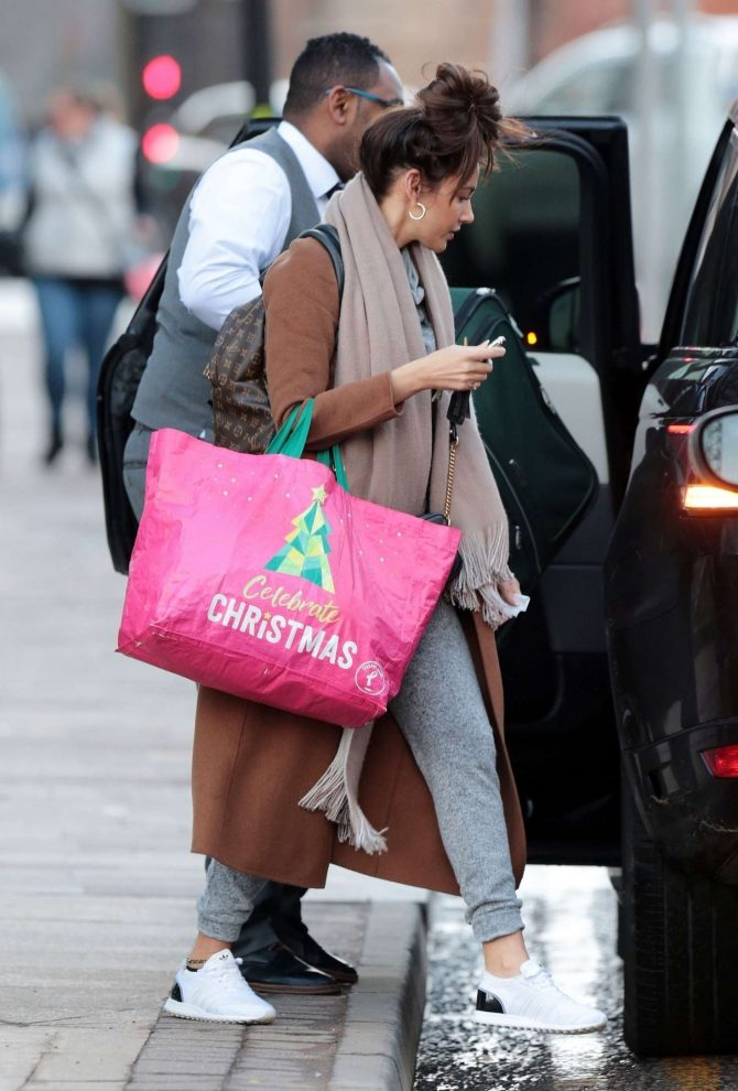Michelle Keegan - Leaves her Hotel in Manchester