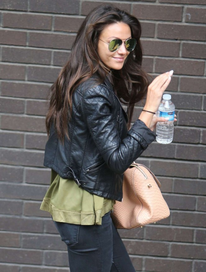 Michelle Keegan - Leaving a Studio in London