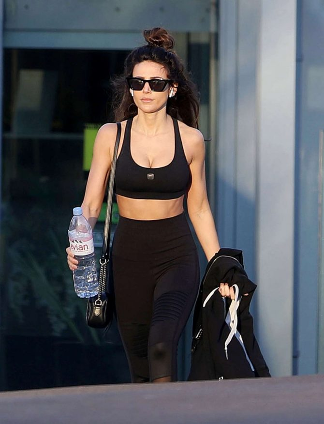 Michelle Keegan – Leaving Essex Fitness Centre
