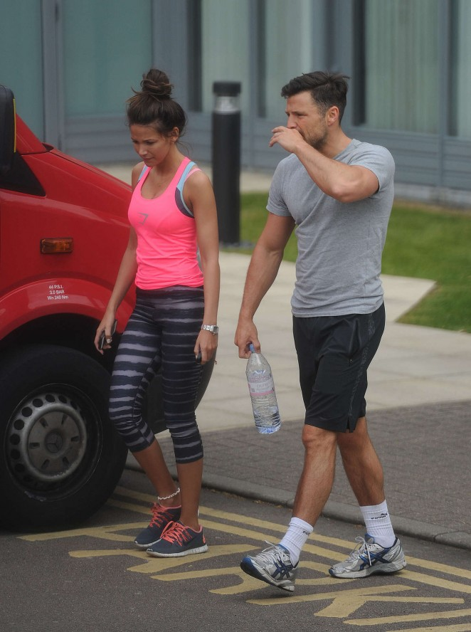 Michelle Keegan – Leaving the gym in Essex