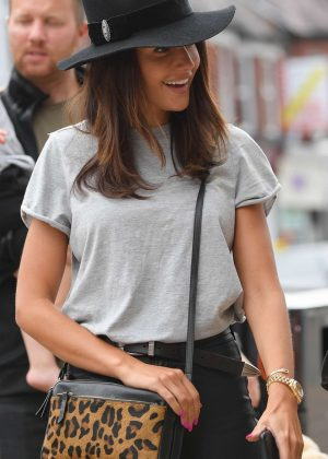 Michelle Keegan - Leaving Victors in Hale