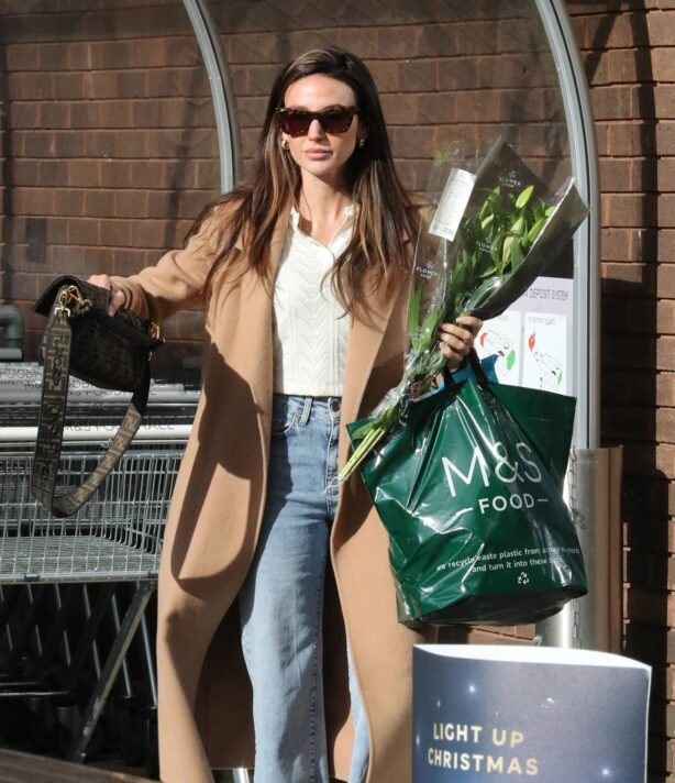 Michelle Keegan - Marks and Spencers in Hale Village - London