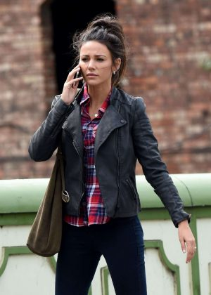 Michelle Keegan - On Set of 'Our Girl' in Manchester