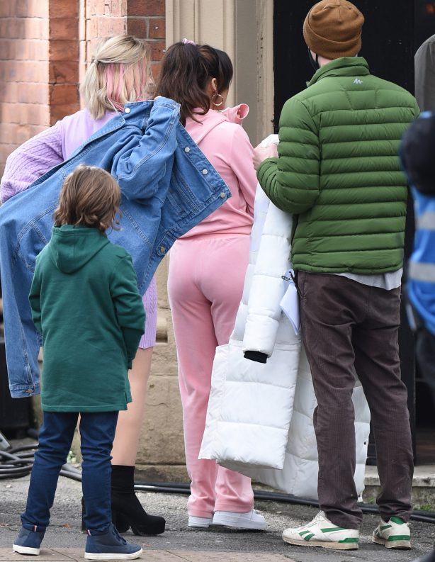 Michelle Keegan - On the set of TV Show Brassic in Manchester