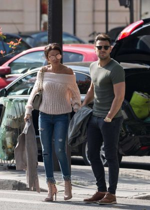 Michelle Keegan out and about in Paris