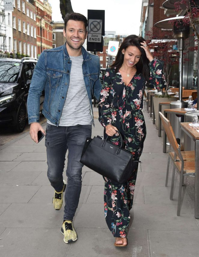 Michelle Keegan Out in London