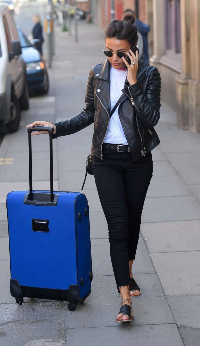 Michelle Keegan - Piccadilly Train Station In Manchester