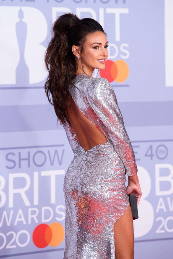 Michelle Keegan - Red carpet at BRIT Awards at O2 Arena in London