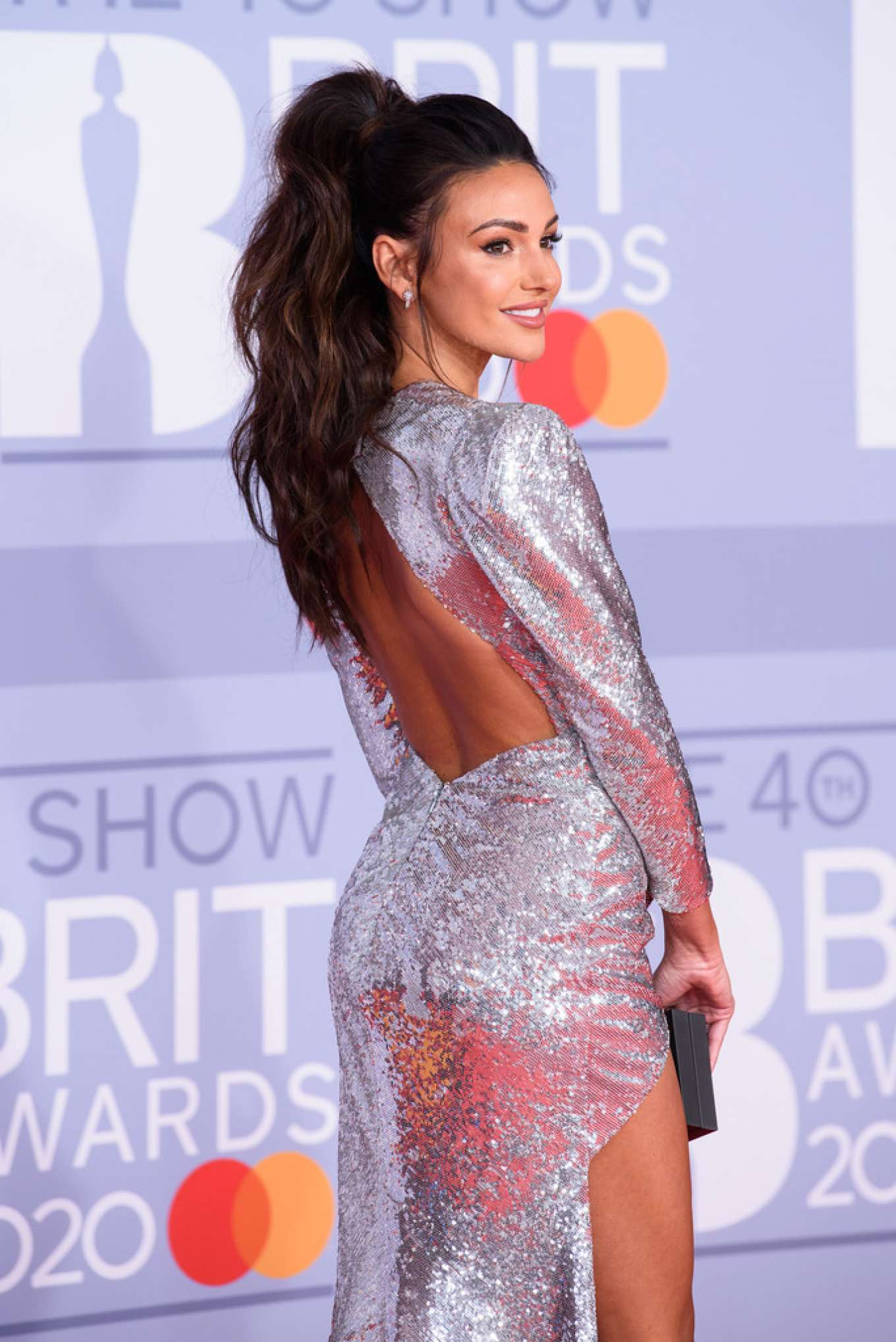 Michelle Keegan - Red carpet at BRIT Awards at O2 Arena in London