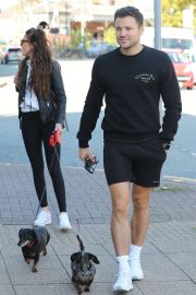 Michelle Keegan - Walks her dogs in Cheshire