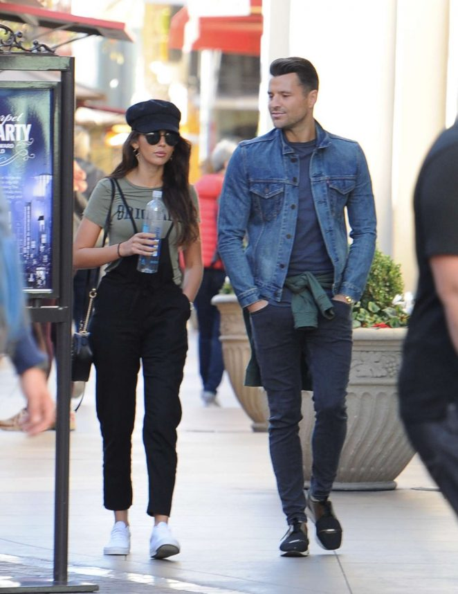 Michelle Keegan with her husband out in Los Angeles