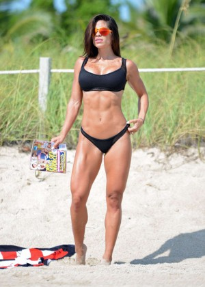 Michelle Lewin in Black Bikini -03