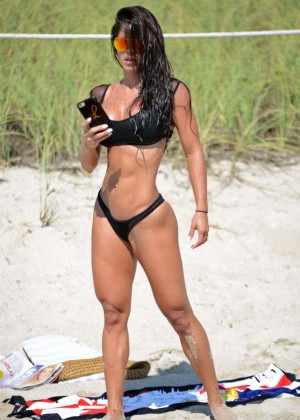Michelle Lewin in Black Bikini -04