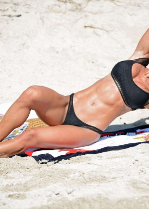 Michelle Lewin in Black Bikini -05