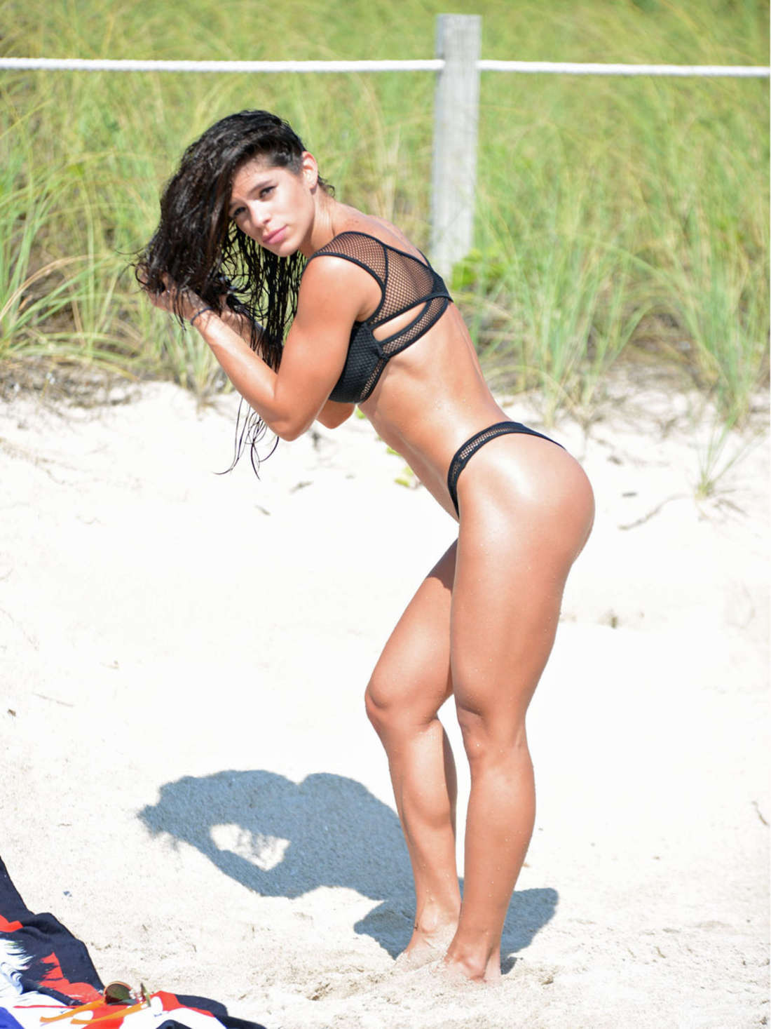 Michelle Lewin in Black Bikini -06