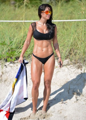 Michelle Lewin in Black Bikini -07
