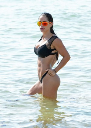 Michelle Lewin in Black Bikini -08