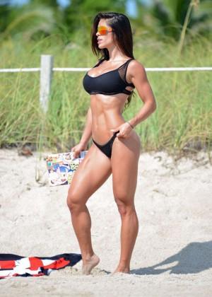 Michelle Lewin in Black Bikini -09