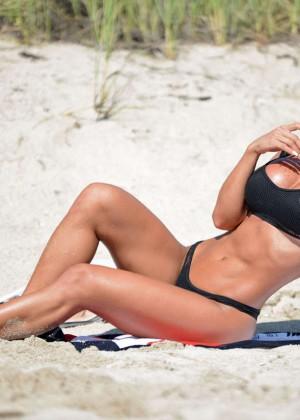 Michelle Lewin in Black Bikini -11