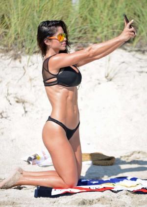 Michelle Lewin in Black Bikini -12