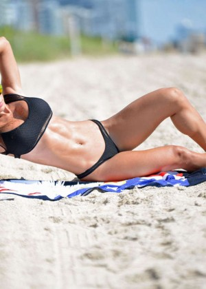 Michelle Lewin in Black Bikini -13