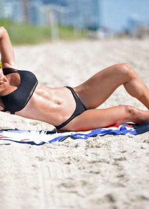 Michelle Lewin in Black Bikini -13
