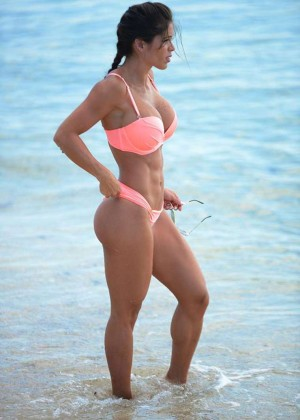 Michelle Lewin in Pink Bikini in Miami
